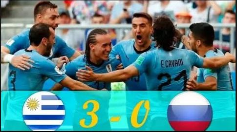 Piala Dunia 2018: Uruguay mengalahkan Rusia 3-0