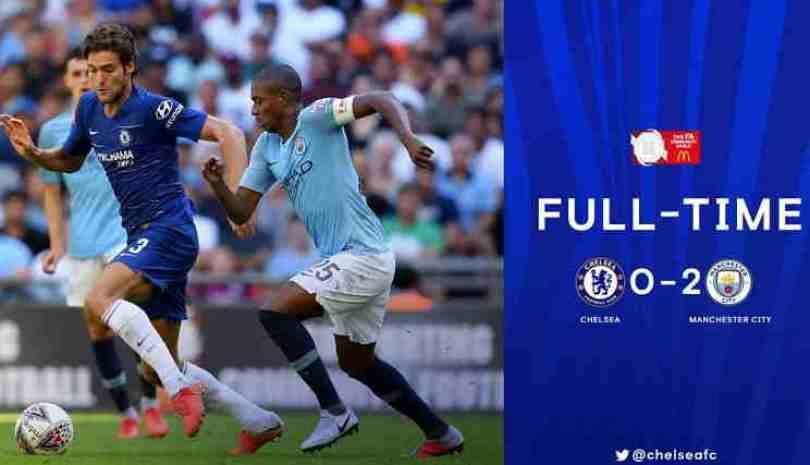 Hasil Community Shield- Chelsea vs Manchester City, Skor 0-2