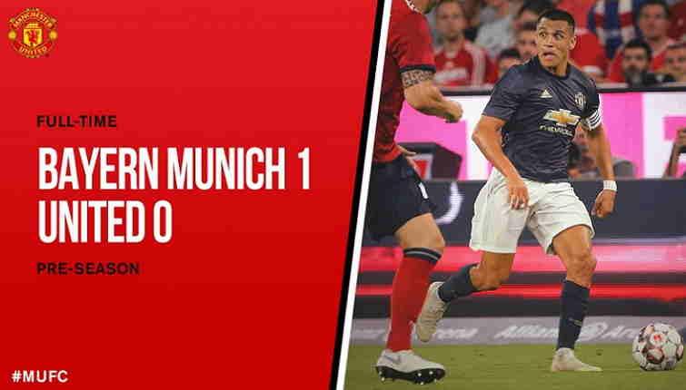 Hasil Bayern Munich vs  Manchester United, Skor 1-0