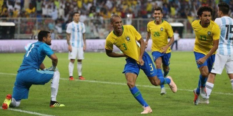 Gol Miranda di gawang Argentina