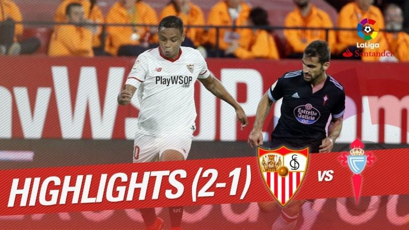 Hasil Sevilla vs Celta Vigo skor 2-1