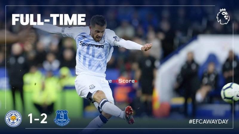 Leicester City vs Everton Skor Akhir 1-2