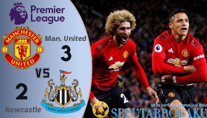 Manchester United vs Newcastle United Skor Akhir 3-2