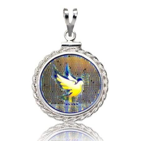Dove Diamond Cut Silver Pendant