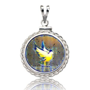 Dove Diamond Cut Silver Pendant