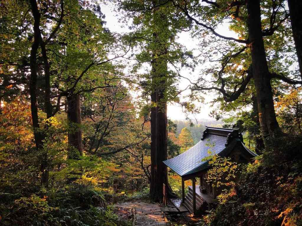 Massha shrine on Mt. Haguro. Before 1868, this area would have been covered in Buddhist artefacts and temples.
