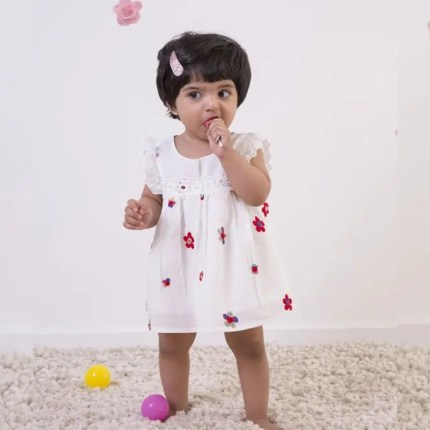 White Dress For Toddler Girl