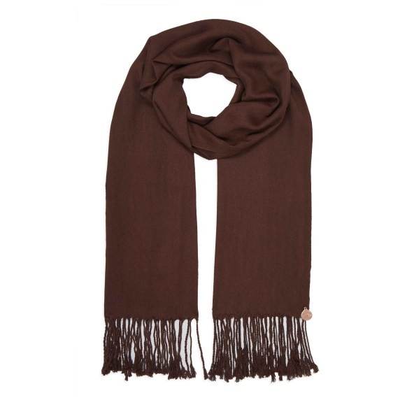 Pashmina Shawl - Soft-Touch - Brown