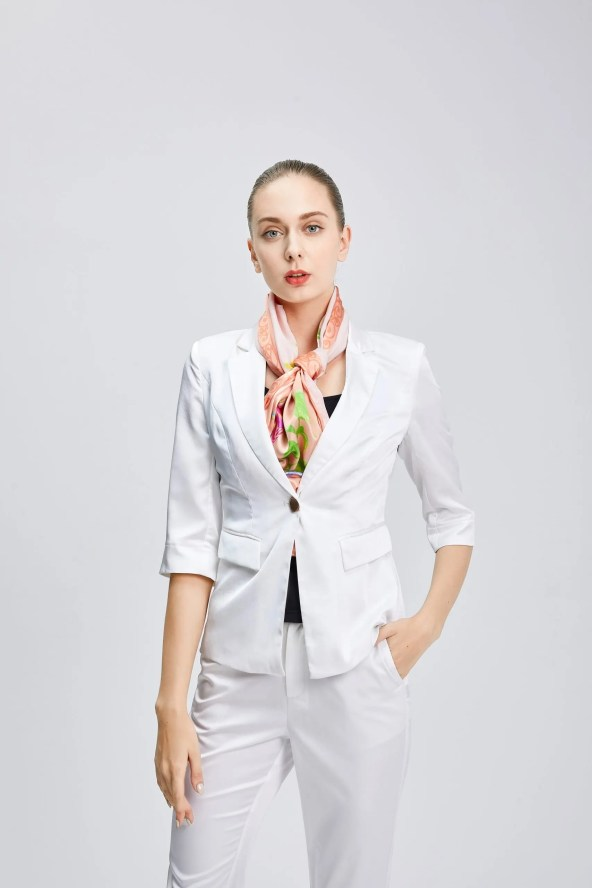 Long Silk Scarf - Amelia Nature Collection – Peach