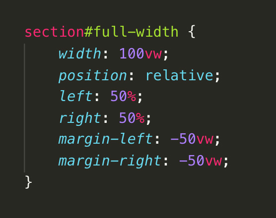 Full-width code snippet