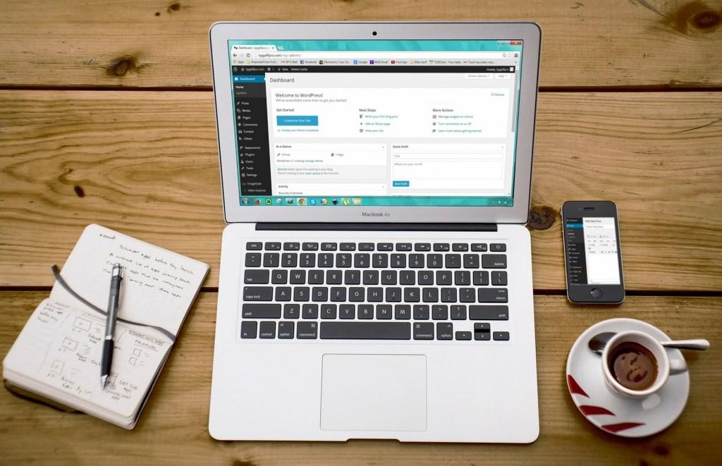 Webdesign met WordPress-dashboard