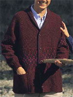 Men's Shawl-Collared Cardigan