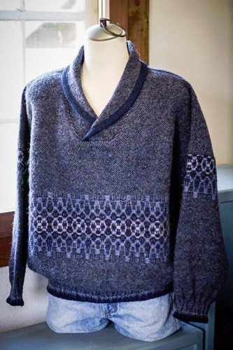 Pullover Sweater in Blue Heather