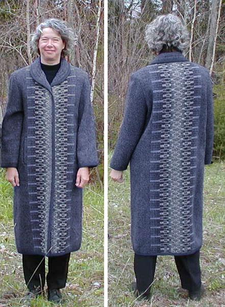 Long coat in Blue Heather