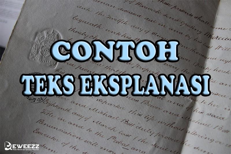 15 Contoh Teks Eksplanasi (Terlengkap), Pengertian, Ciri ...