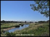 The view of the Sabie Bridge from Skukuza's promenade