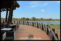 The deck at Lower Sabie's restaurant