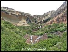 Towering sandstone cliffs