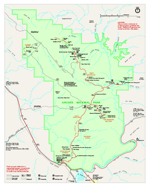 Arches National Park Official Map