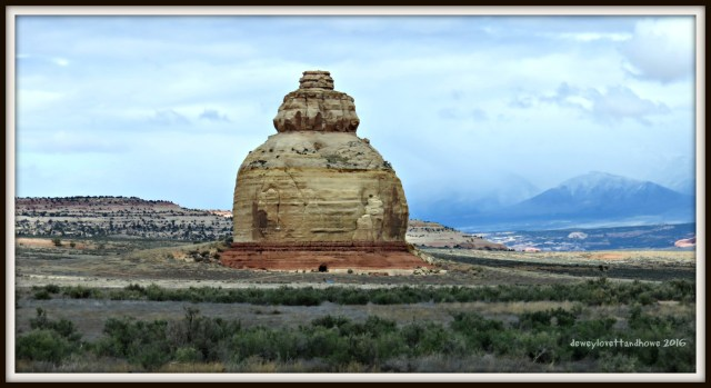 "Adjacent to HWY 191 ...very similar to a petrified sand dune in Arches NP... I call it ""The Beehive"""
