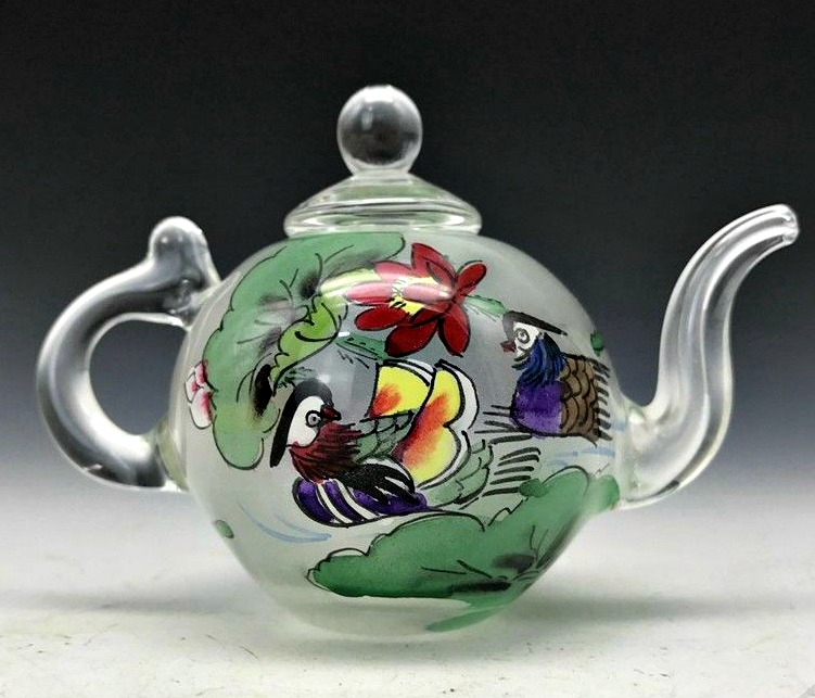 Teapot, miniature, birds