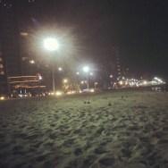 As luzes da noite na Praia de Iracema