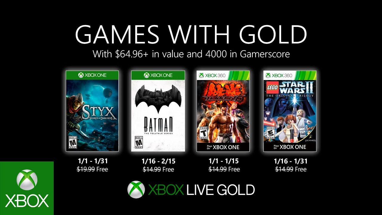 These are the Games with Gold games of January 2020