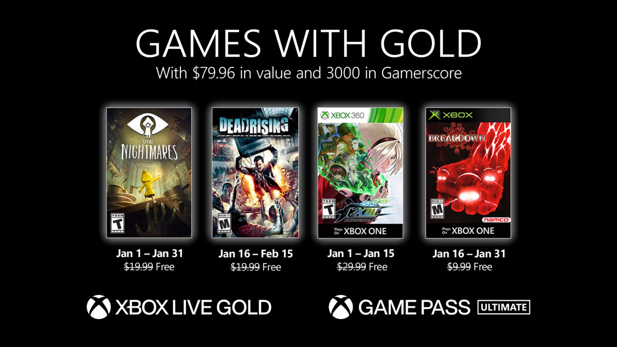 These are the Games with Gold games of January 2021