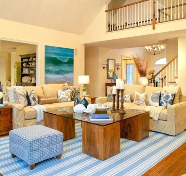 45 Fabulous Beach Themed Living Room For Guests Feel More ...
