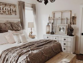 Bohemian Farmhouse Bedroom Decor