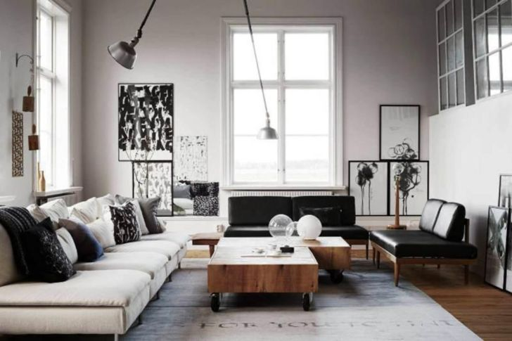 Contemporary Industrial Small Living Room