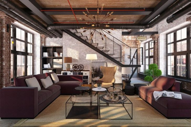 Contemporary Living Room Industrial