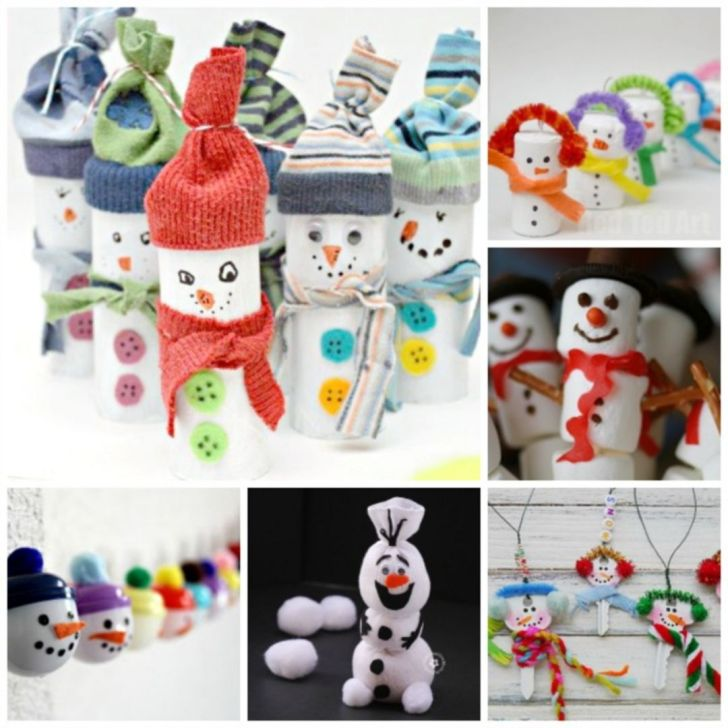 Easy Snowman Crafts for Christmas