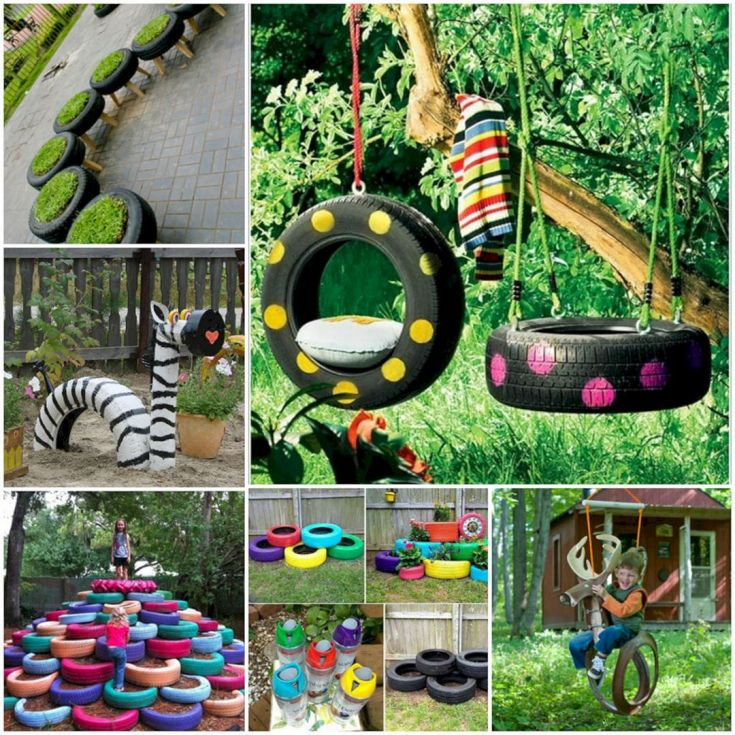 Garden Ideas From Recycled Materials 108