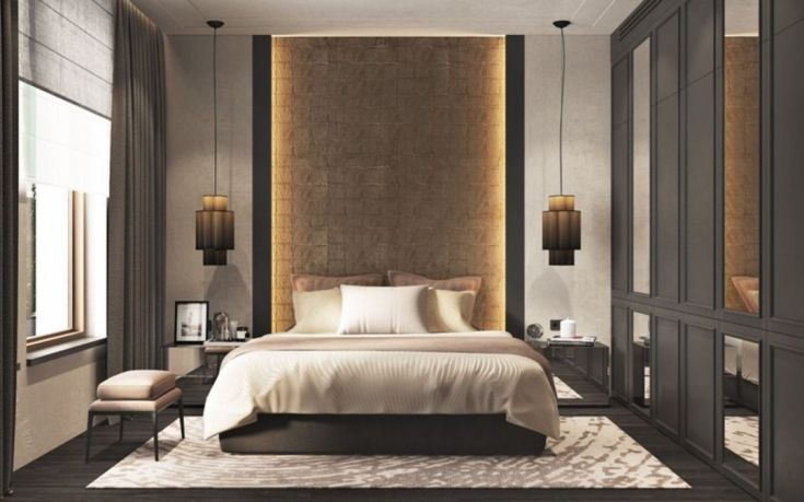 Gorgeous Wall Master Bedroom Design