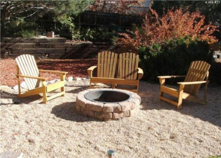 Pea Gravel Fire Pit With Seating Ideas