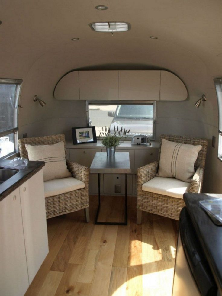 Small Campers And Classic RV Trailer Interior