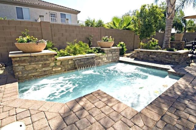 Awesome inground small backyard pool design
