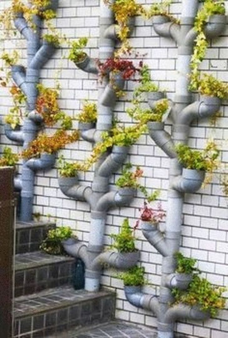 Brilliant Ideas Vertical Garden And Planting Using Pipes