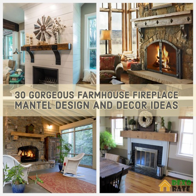 reputable site 55f60 e59b6 30 Gorgeous Farmhouse Fireplace Mantel Design and Decor For ...