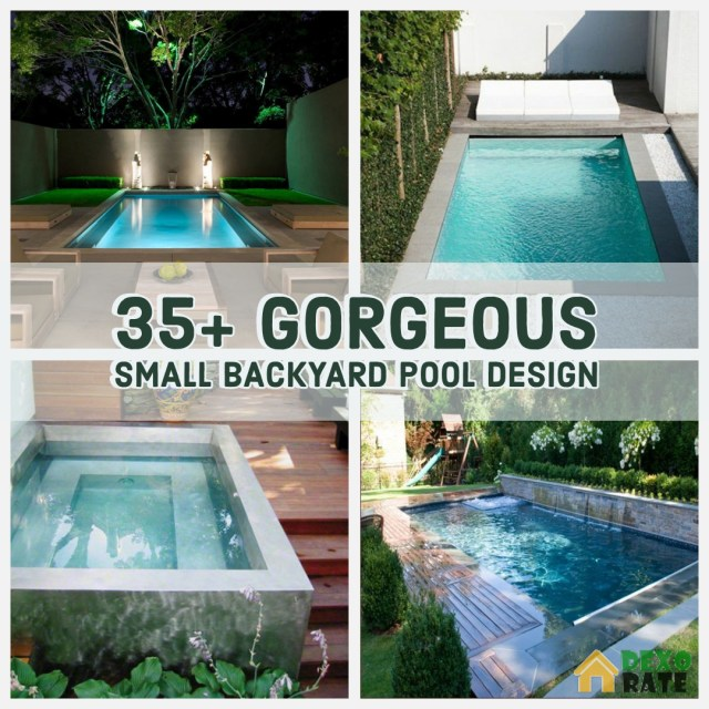 Gorgeous Small Backyard Pool Design