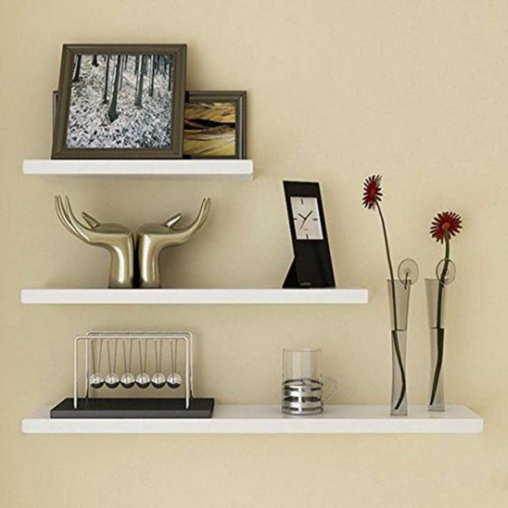 Modern Floating Wall Shelves Decorating ideas