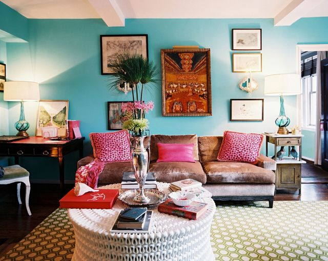 Summer Living Room Decorating ideas Bright Colors