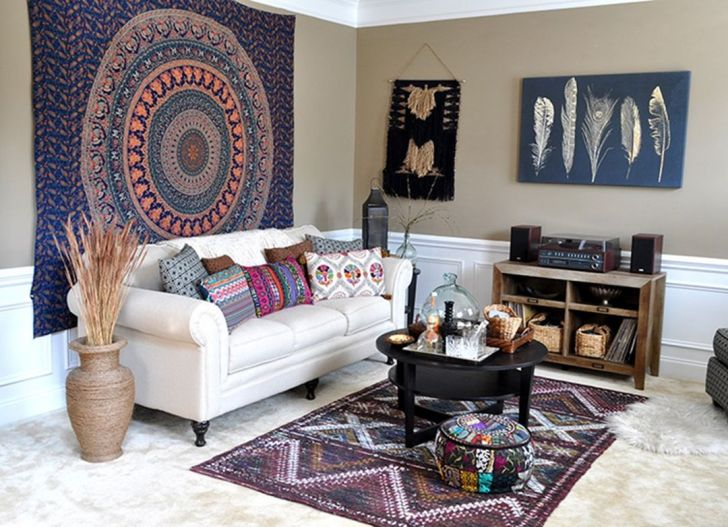 33 Lovely Bohemian Living Room Design And Decoration For Feeling ...