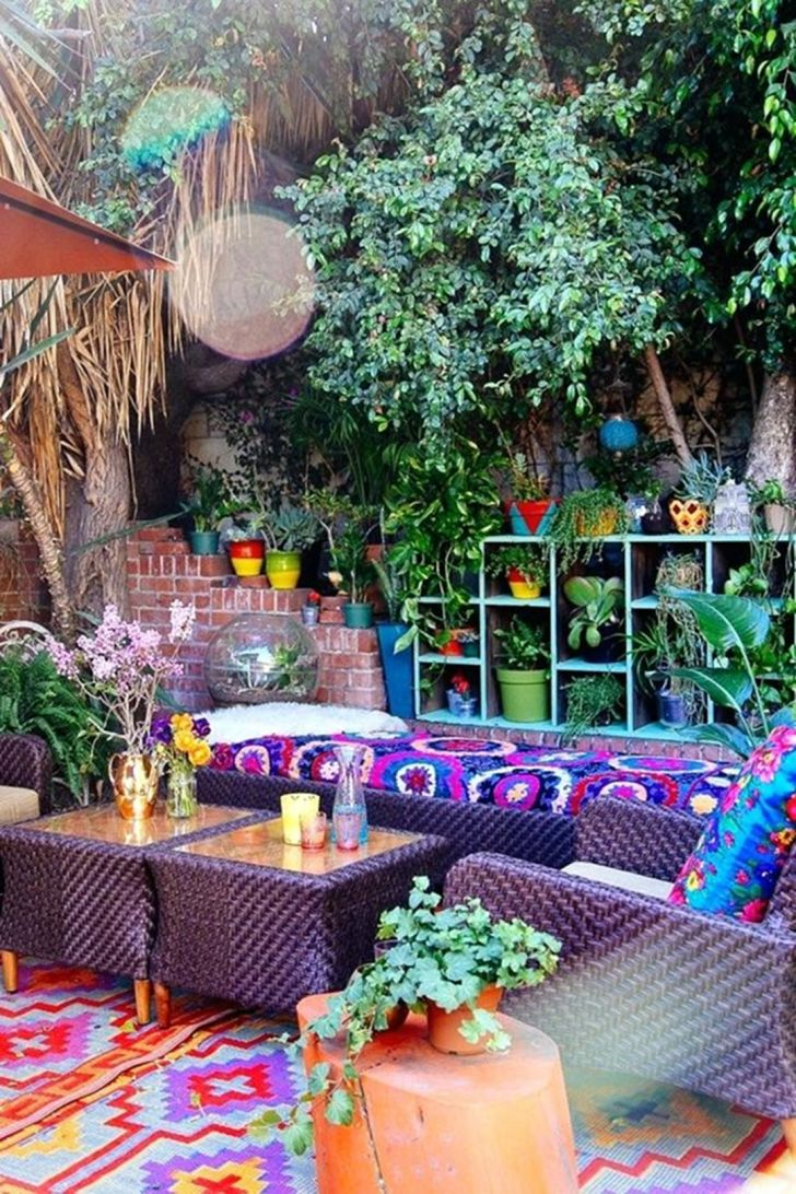 Awesome bohemian outdoor decor