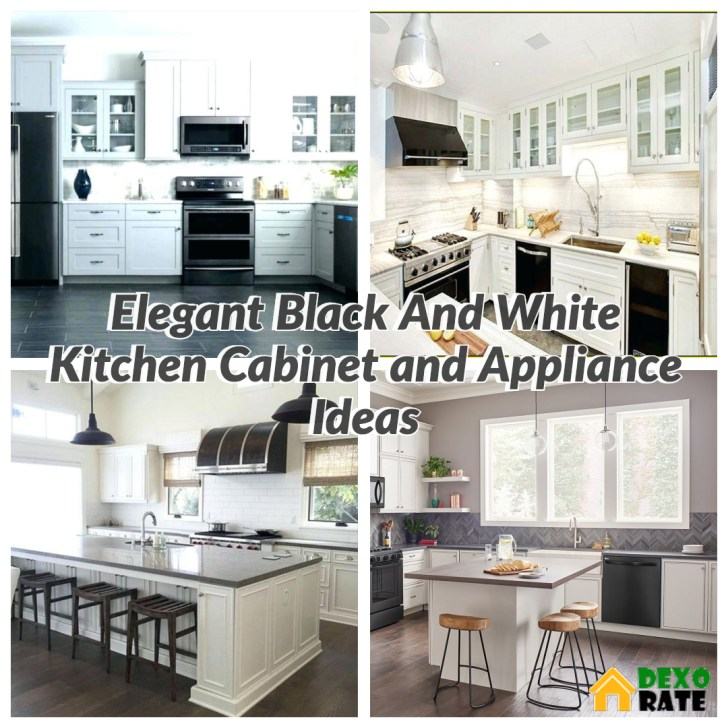 30 Elegant Black And White Kitchen Cabinet And Appliance Ideas Dexorate