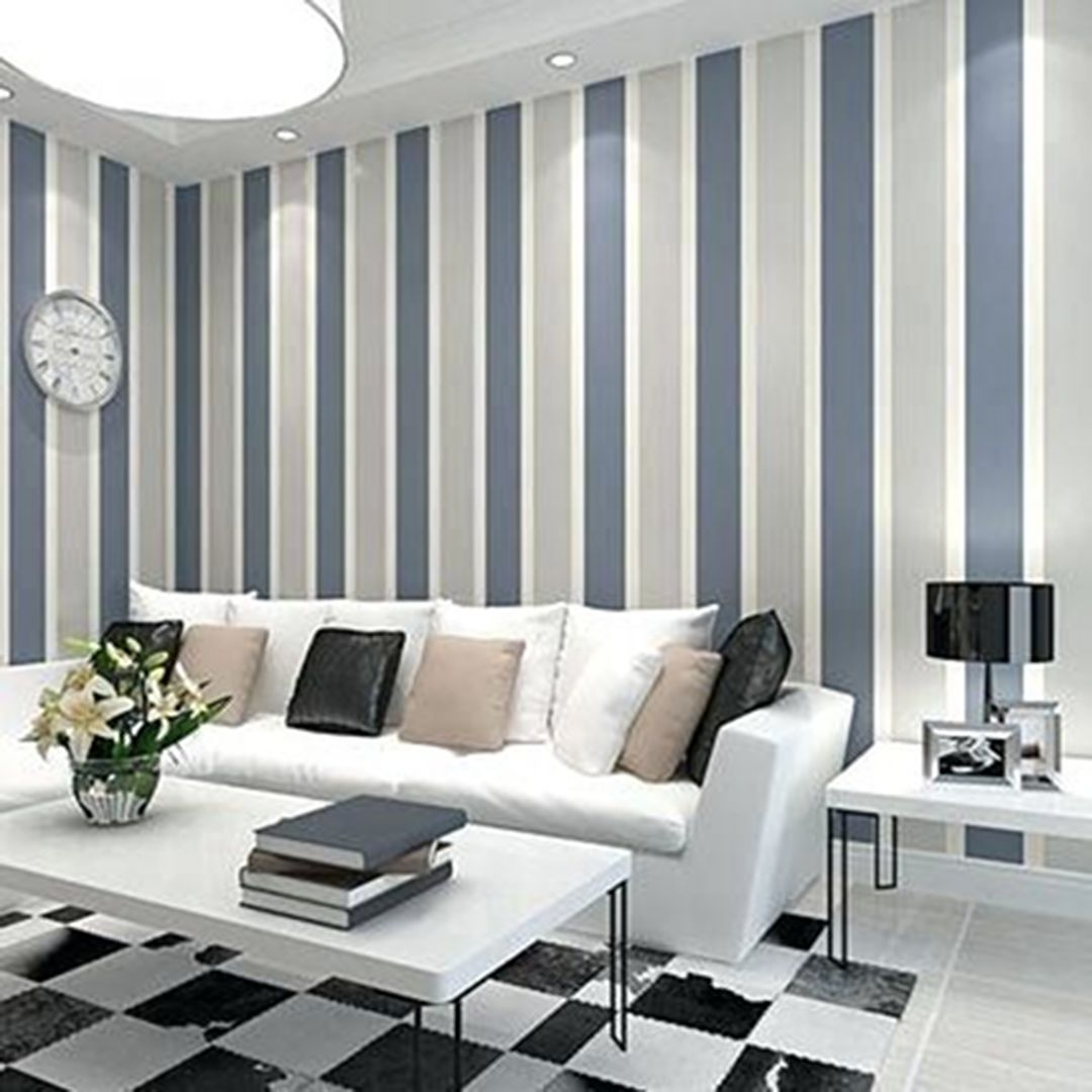30 Most Attractive Striped Living Room Wall Paint Styles ...