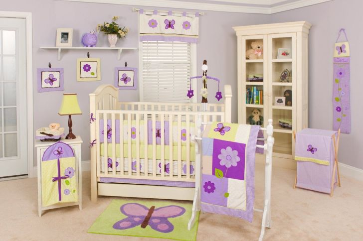 Pam Grace Creations Lavender Butterfly Nursery Collection - Via babybeddingandaccessories.com