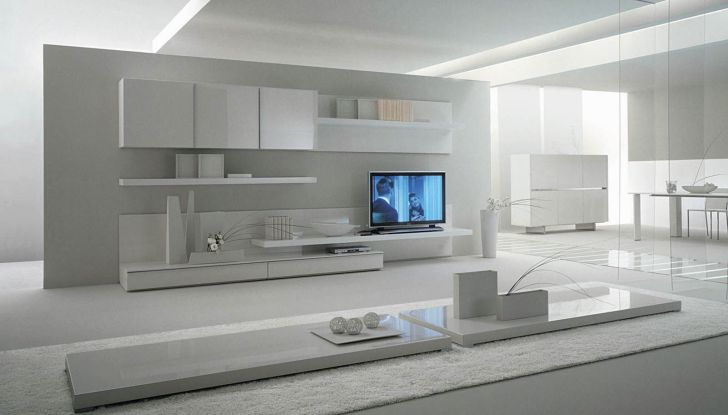 Living Room Contemporary Wall Units