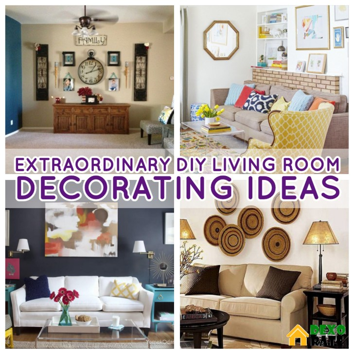 27 Extraordinary Diy Living Room Decorations That Volition Increase Its Beauty